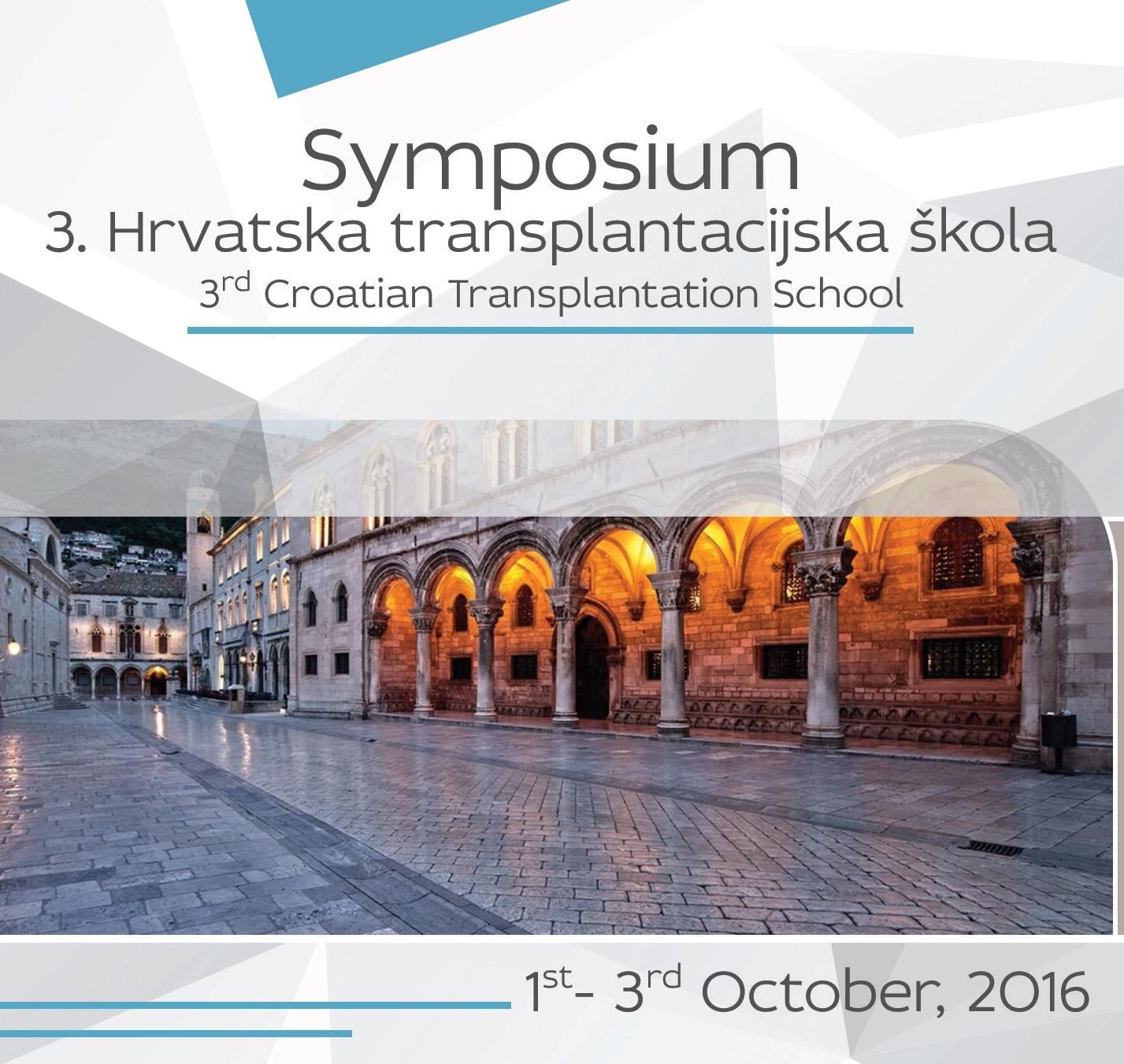 Symposium – 3rd Croatian Transplantation School