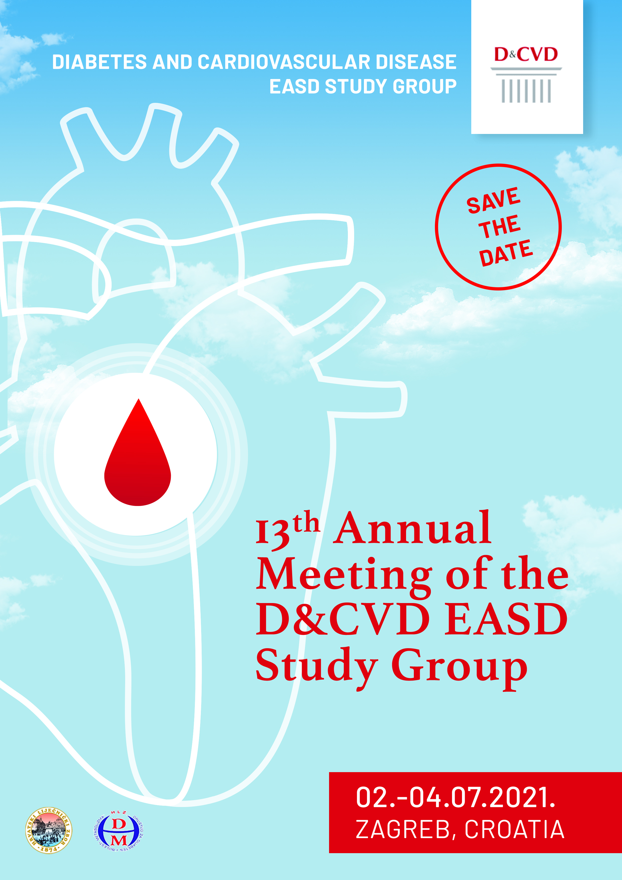 13th Annual Meeting of D&CVD EASD Study Group, Zagreb 2.-4.7.2021.