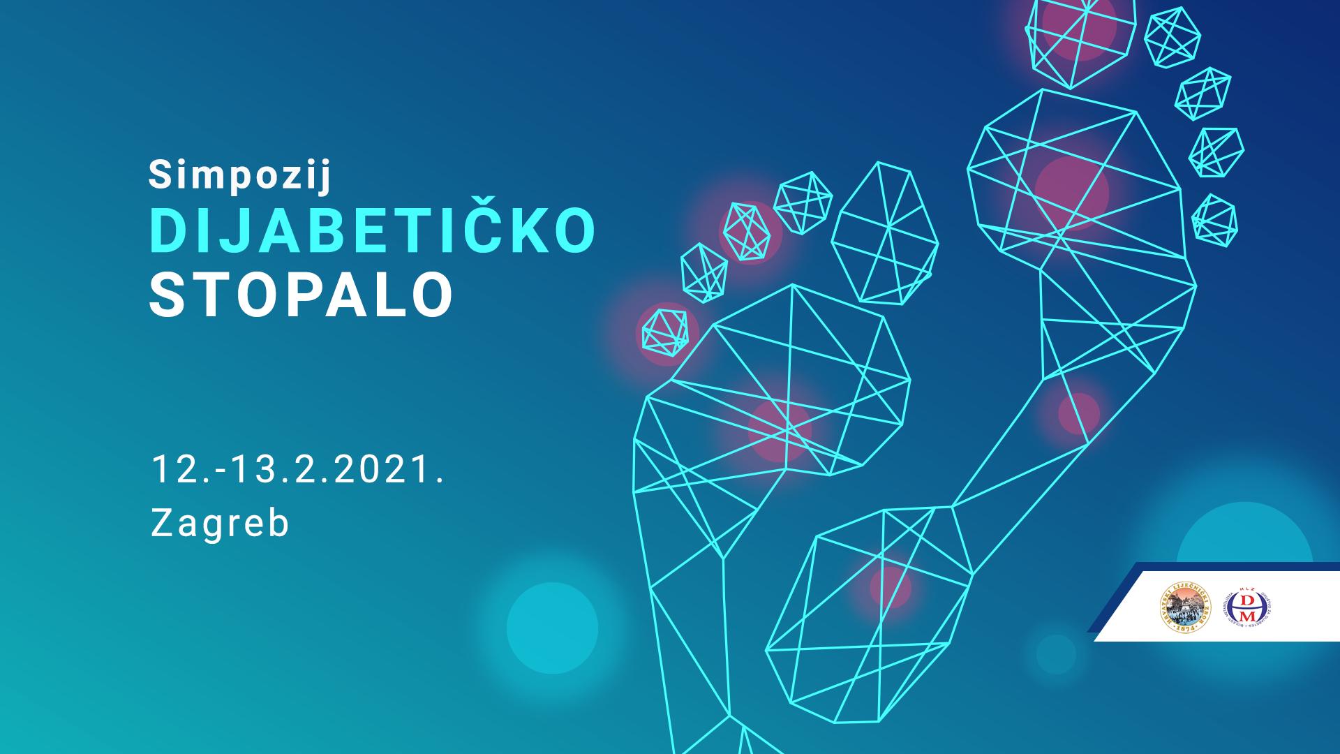 Poslijediplomski tečaj 1. kategorije Dijabetičko stopalo, Zagreb 12.-13.2.2021.