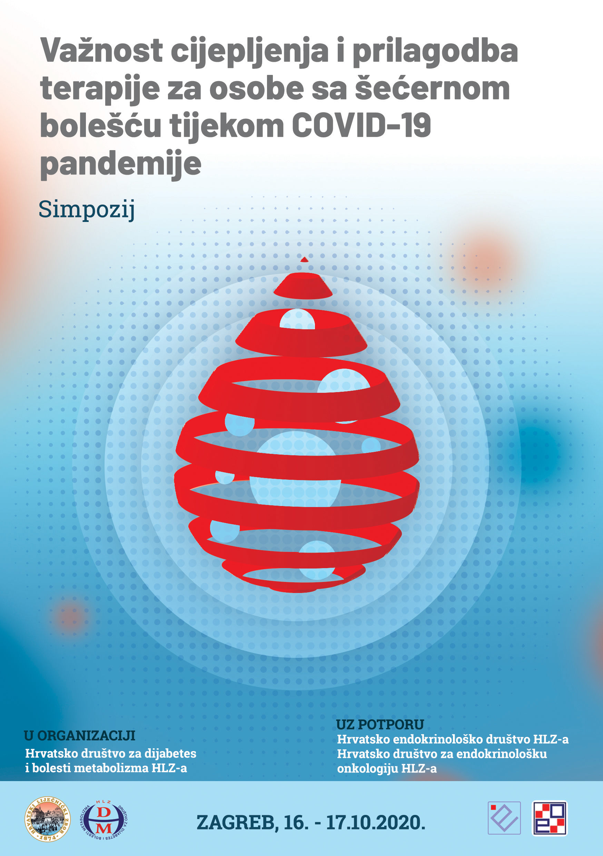 Simpozij Važnost cijepljenja i prilagodba terapije za osobe sa šećernom bolešću tijekom COVID-19 pandemije, Zagreb 16.-17.10.2020.